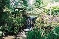 Minterne Gardens, waterfall and footbridge - geograph.org.uk - 518654.jpg