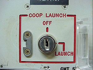 Single Integrated Operational Plan - Deputy's launch keyswitch in an old Minuteman ICBM launch control center. Commander's key was too far away to be turned by the same person.