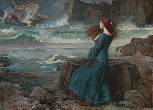 The Tempest - Miranda by John William Waterhouse