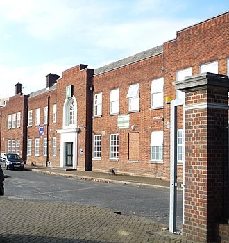 4th Battalion, Queen's Royal Regiment (West Surrey) - Mitcham Road Barracks, as rebuilt in the 1930s.