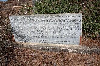 Mitcham War - Historical marker detailing Mitcham Beat and the Mitchum War. near McEntyre, Alabama.