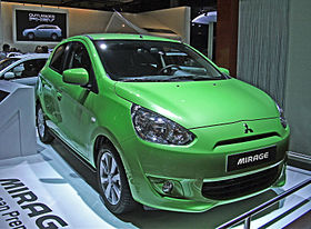 Mitsubishi Mirage 6th generation Paris Motor Show 2012.JPG