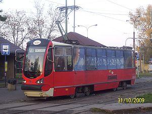 Silesian Interurbans - Moderus Alfa tram rebuilt in Modertrans Poznań