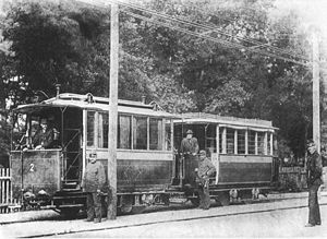 Mödling and Hinterbrühl Tram - First type of Mödling and Hinterbrühl tramcars, bipolar overhead line
