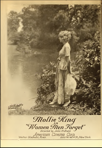 John M. Stahl - Ad with Mollie King in the film Women Men Forget (1920).