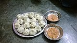 Momos with garlic chutney.JPG