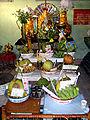 Monastery Buddhist altar, Taunggyi.jpg