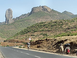 Wehni mountain in Ethiopia where heirs to the Imperial throne were imprisoned, often for life