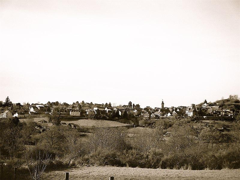 Montaigut en Combraille de la colline des forges