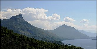 Maratea - The Statue of Christ can be seen at the top of Mount San Biagio