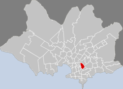 Location of Larrañaga in Montevideo