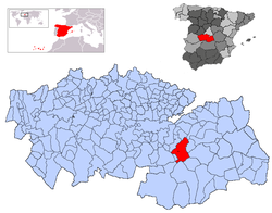 Locator map for Mora Municipality in Spain