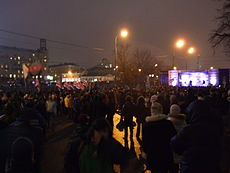 Protestors meeting in Moscow on December 10, the end of meeting Image: Lvova Anastasiya.