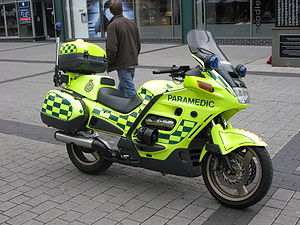 Emergency medical services in the United Kingdom - A paramedic's motorcycle in Birmingham