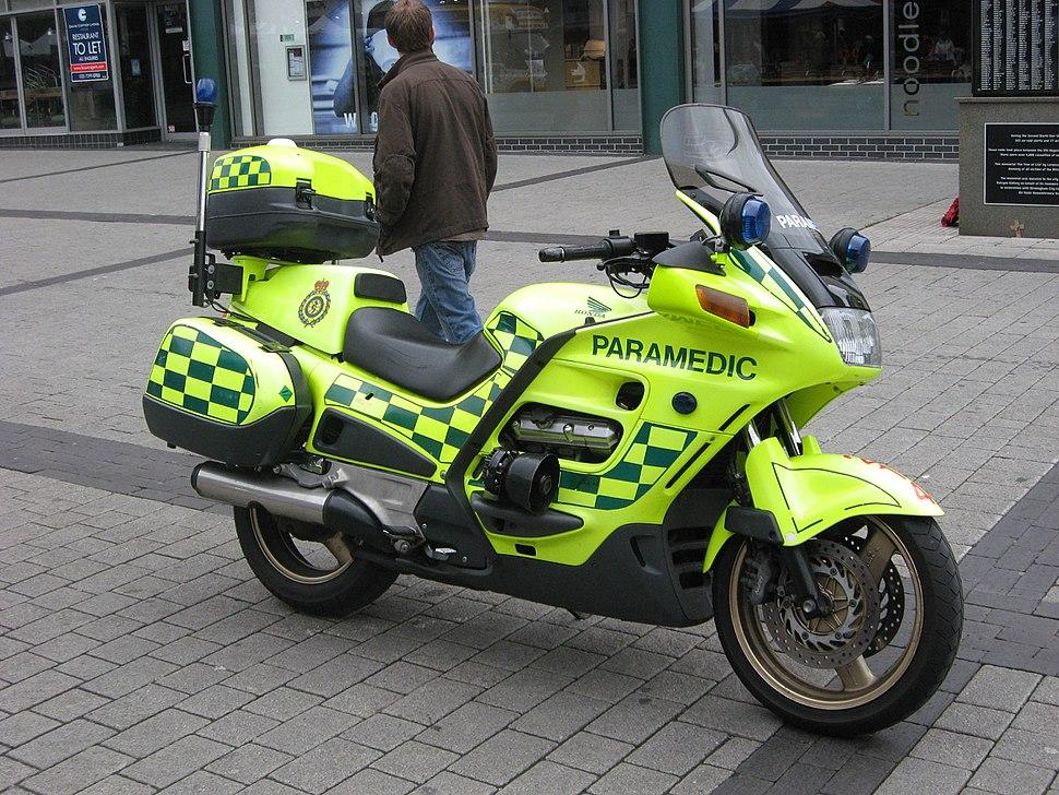 Motorcycle paramedic London Ambulance Service