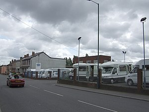 Motorhomes lined up for sale This family owned...