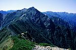 Mount Subari and Harinoki from Mount Akazawa 2001-09-23.jpg
