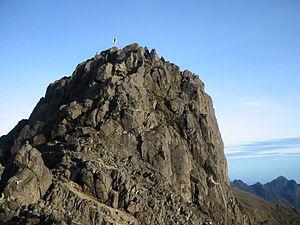 Mount Wilhelm - The granite peak of Mount Wilhelm
