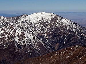 Transverse Ranges - Snowy Mount Baden-Powell in the San Gabriel Mountains