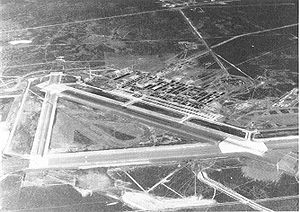 Mountain Home Air Force Base - Oblique aerial photo in June 1945 of Mountain Home Army Air Field