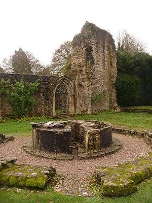 Lavatorium - Ruins of octagonal lavatorium at Wenlock Priory