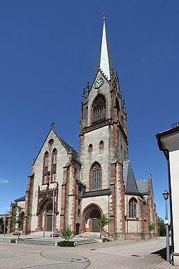Church Maria Königin der Engel (Virgin Mary Queen of Angels) in Muggensturm, Baden, Germany