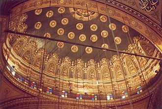 Mosque of Muhammad Ali - The cupola of the mosque from the interior.