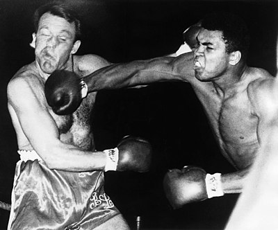 A heavy blow to the head is a frequent cause of a knockout. Muhammad Ali delivers one to Brian London and retains his heavyweight championship by third-round KO on August 6, 1966.