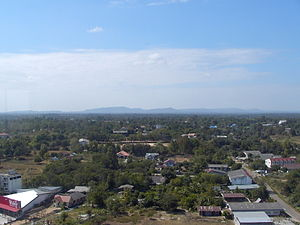 Mukdahan - View from Haw Kaew Mukdahan Observation Deck
