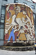 Mural by Ariosto Otero at the Foro Cultural in Contreras, Mexico City