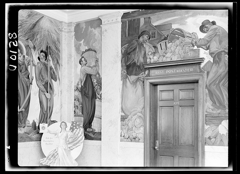 File:Mural in post office. Dover, Delaware 8b29398v.jpg