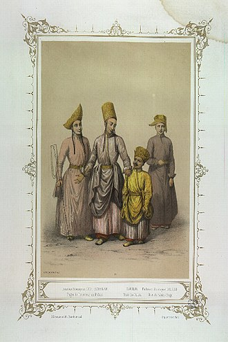 Enderûn - Pages of the Enderûn (Interior Service) with a court dwarf and a deaf-mute (dilsiz)