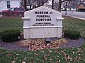 Museum of Funeral Customs sign.jpg