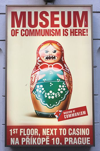 English: museum of communism in Prague Deutsch...