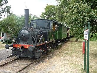 Bandholm - Heritage train Maribo-Bandholm: Steam locomotive KJØGE at Bandholm harbour