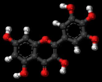 Myricetin - Image: Myricetin 3D balls
