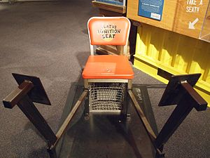 MythBusters (2006 season) - The chair used in the Lighting the Emission episode