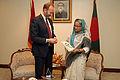 Nærings- og handelsminister Trond Giske besøker Bqangladesh. Her med Bangladesh sin statsminister Sheikh Hasina.jpg
