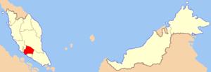 Location of Negeri Sembilan