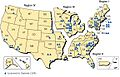 NRC regions and plant locations 2008.jpg