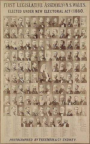 New South Wales Legislative Assembly - NSW first Legislative Assembly – 1880