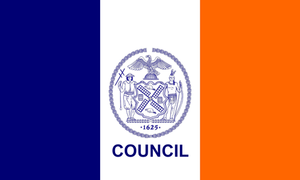New York City Council - Image: NYC Councilmanic Flag