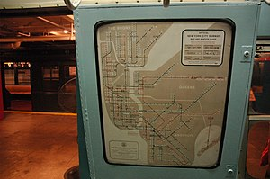 New York City Subway map - Old official map designed by George Salomon