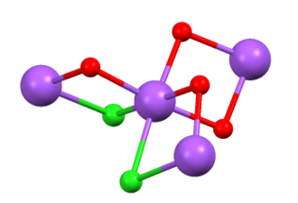 Water of crystallization - Image: Na Cl(H2O)2 connectivity