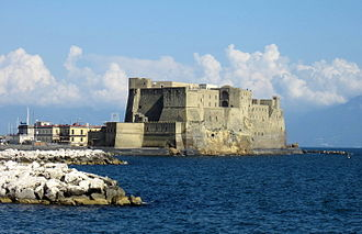 History of Naples - Megaride in modern times, with the Castel dell'Ovo.