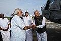 Narendra Modi being seen off by the Governor of Tamil Nadu, Shri Banwarilal Purohit and the Chief Minister of Tamil Nadu, Shri Edappadi K. Palaniswami.jpg