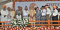 Narendra Modi with the ex-servicemen at the public meeting for inauguration of the New Housing Scheme, in Chandigarh. The Governor of Punjab and Haryana and Administrator, Union Territory, Chandigarh.jpg