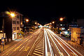 National route four in fukushima city at night.jpg