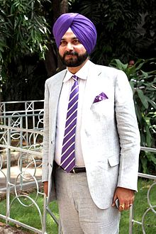 Navjot Singh Sidhu on the sets of Sony Max in 2012.jpg