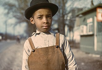 John Vachon - Image: Negro boy near Cincinnati, Ohio (LOC)